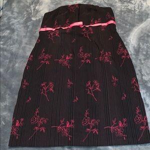 Torrid Black and pink strapless dress - 18